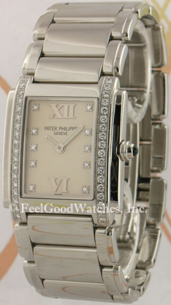 Patek Philippe 4910/10A Ladies' Twenty~4, Steel, White Dial