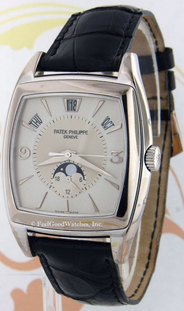 Patek Philippe 5135G Gondolo Calendario, White Gold