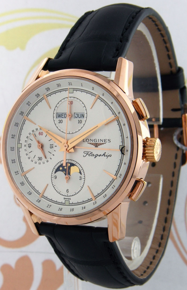 Longines L47928772 Flagship Heritage Moon Phase, Rose Gold