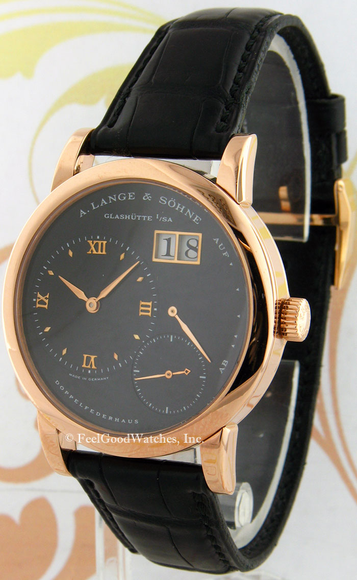 A. Lange & Sohne 101.031 Lange 1, Red Gold, Black Dial