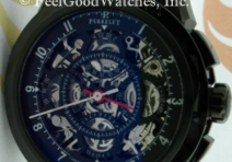 Perrelet A1045/2 Semi-Skeletonized Chronograph Rattrapante, Stee