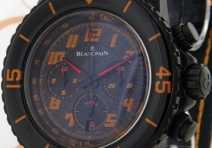 Blancpain 5785F Fifty Fathom Flyback Speed Command Chronograph, Black Steel