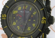 Blancpain 5785F.A Fifty Fathom Flyback Speed Command Chronograph, Black Steel