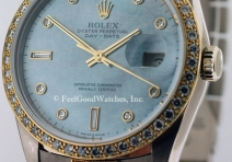 Rolex 18349 President Tridor, White & Yellow Gold, Factory Diamonds & Dial