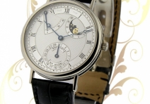 Breguet 3130 Moon Phase / Power Reserve, White Gold