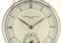 "Patek Philippe Vintage Pocket Watch, ""Staybrite"" Steel, ca. 1937"