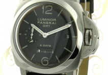 Panerai Limited Edition PAM00233 Luminor 1950 GMT 8-Day, Steel,