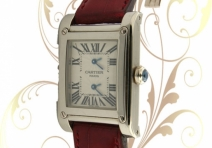 Cartier W1534351 Collection Privee' Tank a Vis 2 Time Zone, White Gold